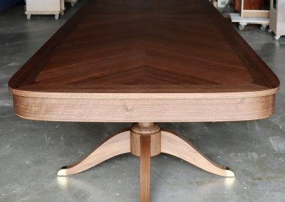 Walnut Chevron Table